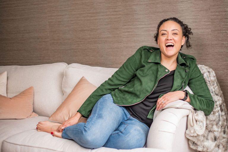 Tijani Co-Founder on sofa